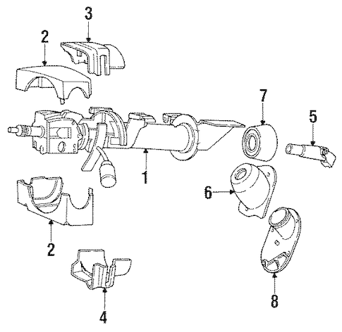 STEERING COLUMN COMPONENTS for 1993 Dodge Spirit