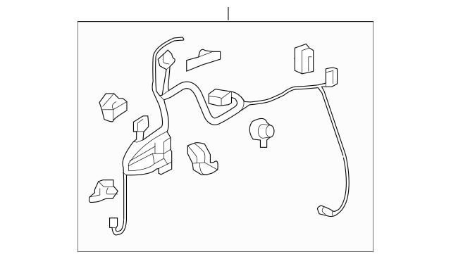 2017 Honda RIDGELINE SEDAN Sub-Wire, Driver Door 32755-T6Z