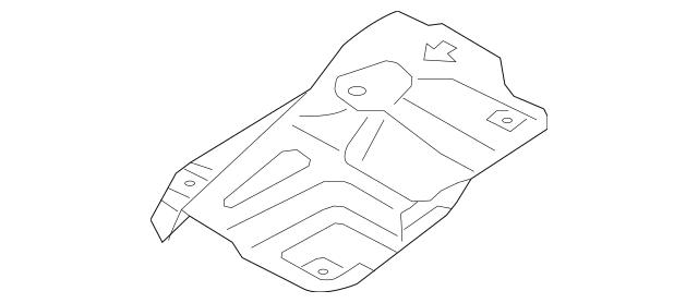 2011-2013 Kia Sorento Heat Deflector 28795-1U500-DS