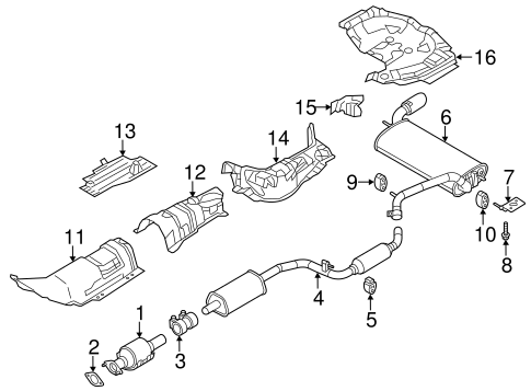 exhaust components for 2014 ford focus