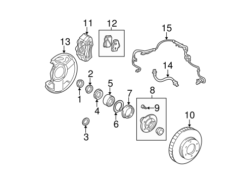 Genuine OEM Front Brakes Parts for 2000 Toyota Tundra SR5