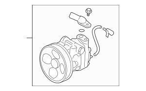 2006-2007 Subaru B9 Tribeca Power Steering Pump