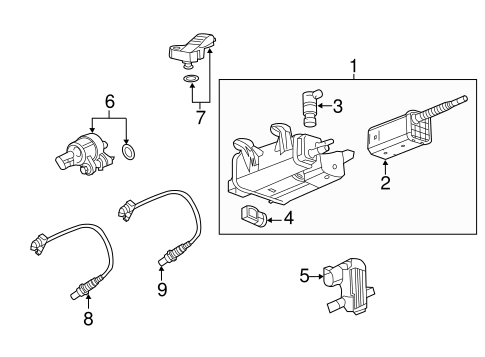 OEM Emission Components for 2013 Chevrolet Equinox