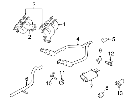 Exhaust Components for 2006 Ford Mustang