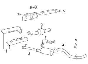 OEM 2002 Ford F350 Super Duty Exhaust Components Parts