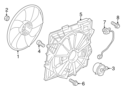 COOLING FAN for 2010 Cadillac CTS