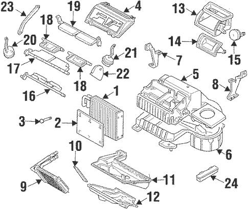 Evaporator & Heater Components for 2002 Oldsmobile