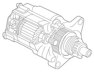 1998-2002 Honda Starter Motor Assembly (Sm-44201)(Mitsuba