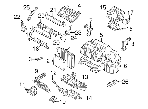 Evaporator & Heater Components for 1997 Buick Century