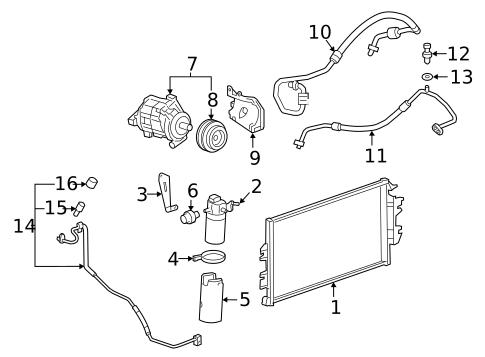 GM OEM A/C AC Condenser/Compressor/Line-Rear Ac Hose Seal