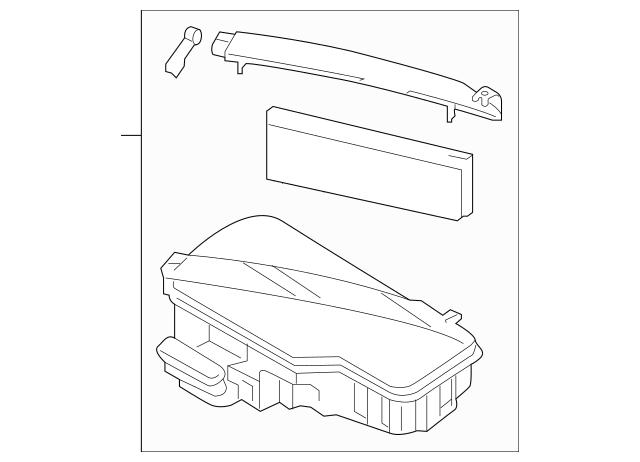 Replacement Parts Genuine Hyundai 28120-3N000 Air Cleaner