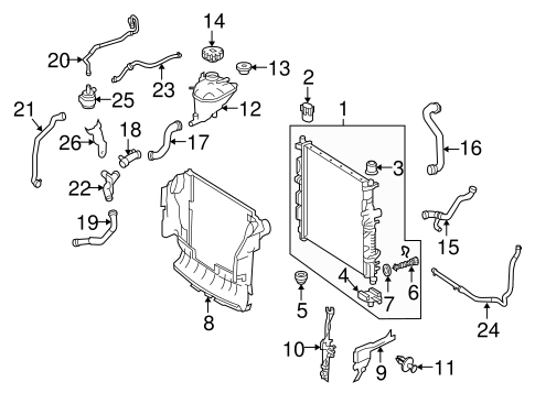 Radiator & Components for 2011 Mercedes-Benz GL 350