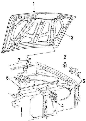 HOOD & COMPONENTS for 1997 Ford Ranger