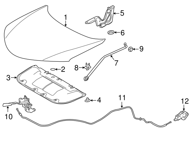2013-2018 Toyota RAV4 Hood Insulation Pad 53341-0R030