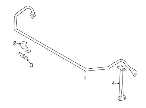 Stabilizer Bar & Components for 2004 Mercedes-Benz SLK 320