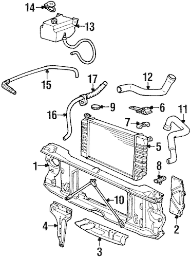 RADIATOR & COMPONENTS for 1993 Chevrolet C1500