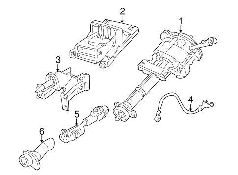 Steering Column Assembly for 2003 Pontiac Aztek