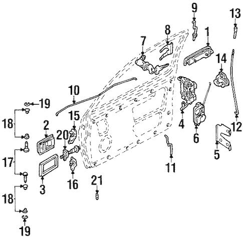 DOOR for 1991 Nissan D21