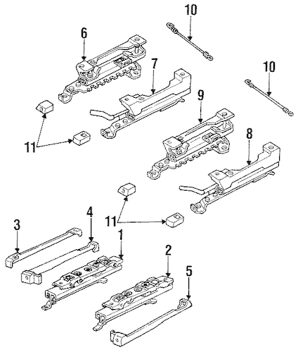 OEM SEATS & TRACK COMPONENTS for 1993 Buick LeSabre