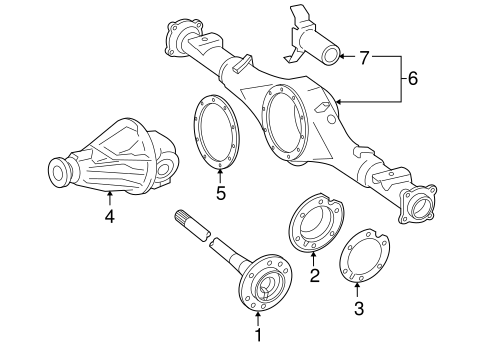 Genuine OEM Axle & Differential Parts for 2005 Toyota