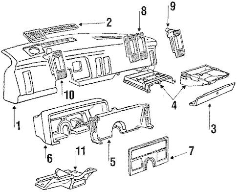 INSTRUMENT PANEL for 1991 Buick Skylark (Gran Sport)