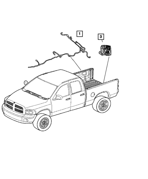 Wiring-Body & Accessories for 2005 Dodge Dakota