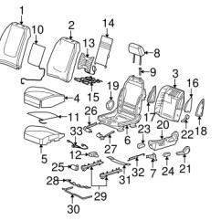 2006 Pontiac G6 Speaker Wiring Diagram Ford Mondeo Mk2 Radio 06 Database Oem Front Seat Ponents Parts Gmpartsonline Net Gtp