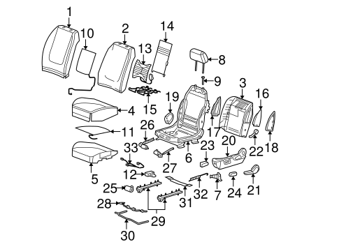 FRONT SEAT COMPONENTS for 2007 Pontiac G6 (GT)