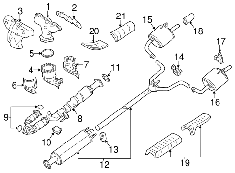 EXHAUST COMPONENTS for 2016 Nissan Altima