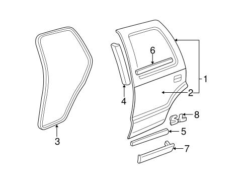 Door & Components for 1997 Chevrolet Blazer