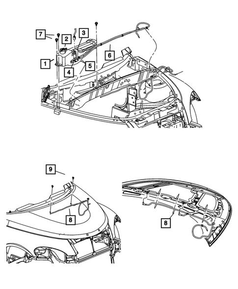 Wiper and Washer System for 2009 Chrysler PT Cruiser