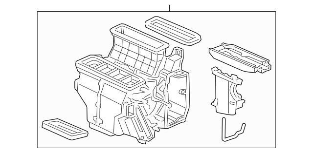 2010-2015 Honda PILOT 5-DOOR Heater Sub-Assembly 79107-SZA