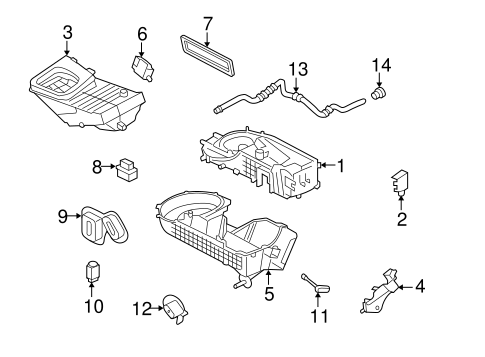 Heater Components for 2007 Mercury Montego