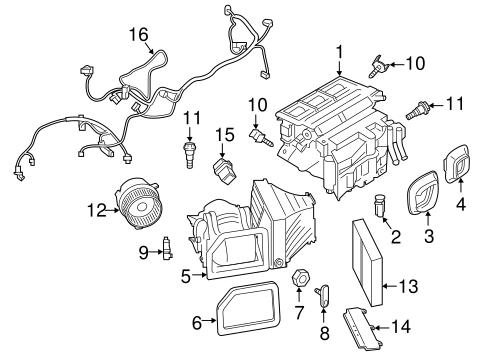Evaporator & Heater Components for 2014 Porsche Cayman