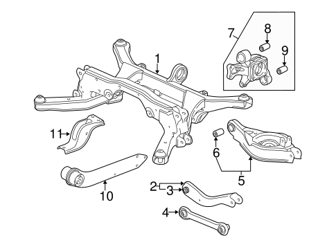 2005 chevy equinox suspension diagram 7 way flat trailer wiring oem chevrolet rear parts gmpartsonline net for 3