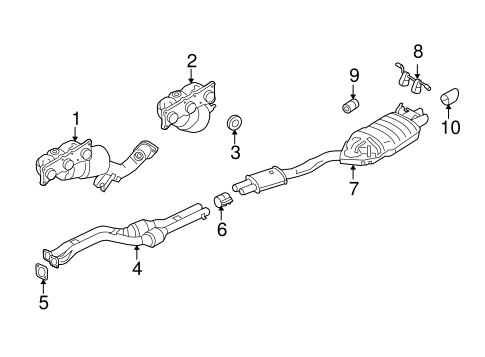 exhaust components for 2007 bmw x3