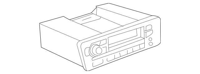 Honda Tuner Assembly, Auto Radio (20WX4) (Panasonic) 39100