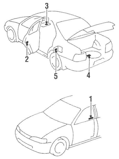 Genuine OEM Labels Parts for 1994 Toyota Corolla DX