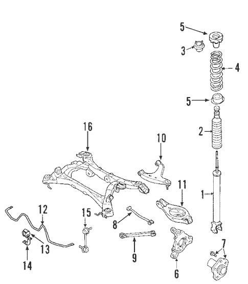2005 nissan murano parts diagram 1998 ford f150 xlt stereo wiring rear suspension for quickparts genuine oem
