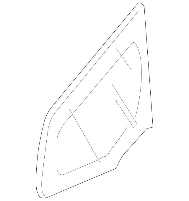 2012-2013 Honda FIT 5-DOOR Glass, L Front Corner (Coo