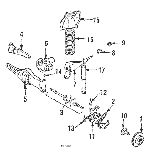 OEM 1986 Ford Bronco II Suspension Components Parts