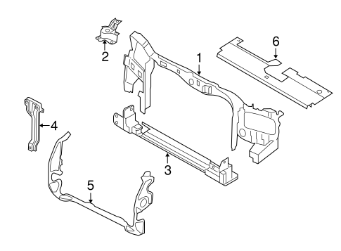 Radiator Support for 2012 Ford Escape