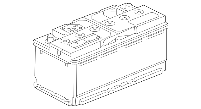 Genuine OEM Battery Part# C2D22312 Fits 1995-2019 Jaguar