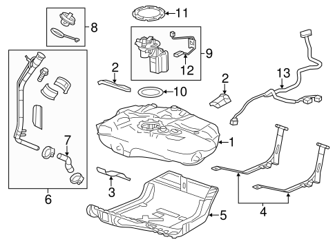 Fuel System Components for 2014 Chevrolet Cruze (LT