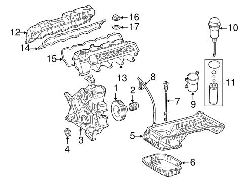 Engine Parts for 2003 Mercedes-Benz E 500