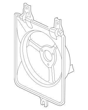 Genuine 2003-2007 Honda Shroud, Air Conditioner 38615-RCA