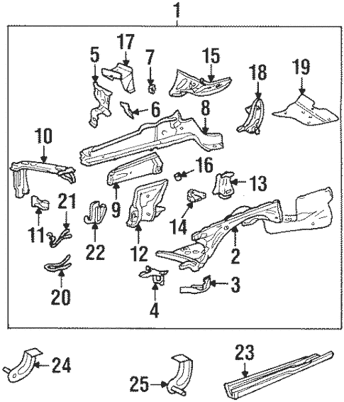 Structural Components & Rails for 1986 Mercedes-Benz 420