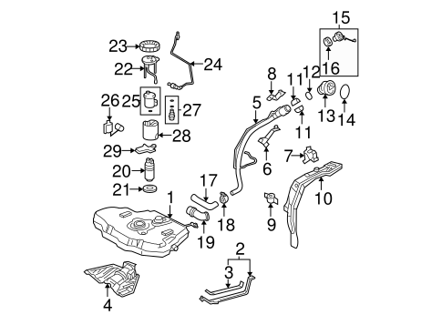 Fuel System Components for 2005 Toyota Corolla