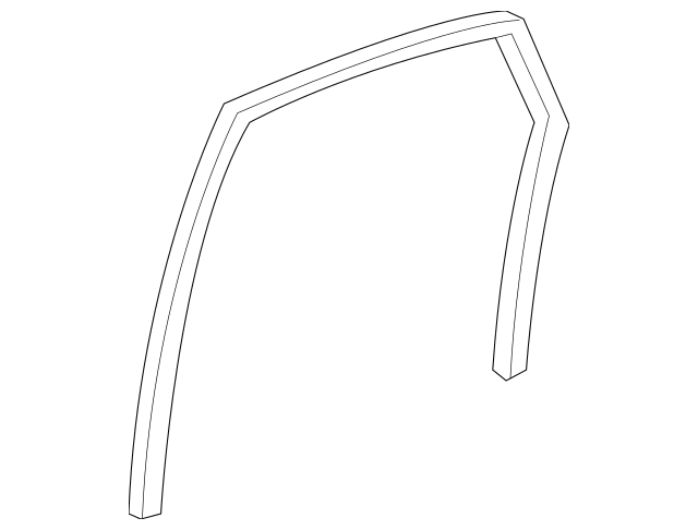 Genuine 2009-2013 Honda FIT 5-DOOR Channel, L Rear Door