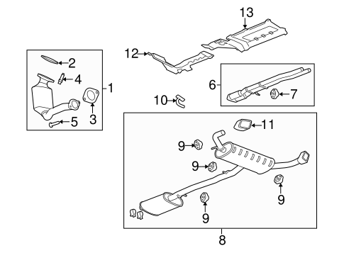 Exhaust Components for 2008 Chevrolet Equinox